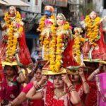 Gangaur Festival in Jaipur Rajasthan India