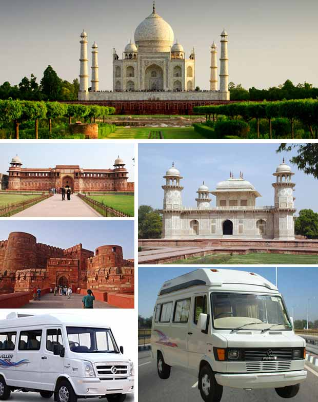 Tempo Traveller in Agra